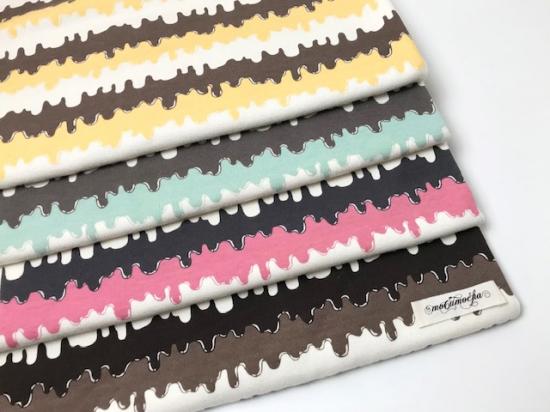 30/コーマスムースニット アイスクリームボーダー柄チョコミント