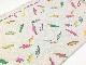 オリジナル30/-TOP杢リバー天竺ニット オートミール杢 イナズマ柄 ピンクグリーン