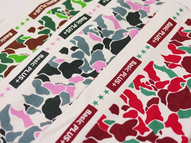 【100cm】40ポンチコーマ キナリ ネオ・カモ柄 ピンク×グレー