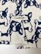 オリジナル30/-TOP杢リバー天竺ニットフレンチブルちゃん柄  オートミール杢×ネイビー