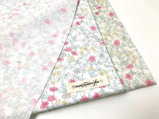 ワイドスイングブロード 花とみつばち柄クリーム×スカーレット