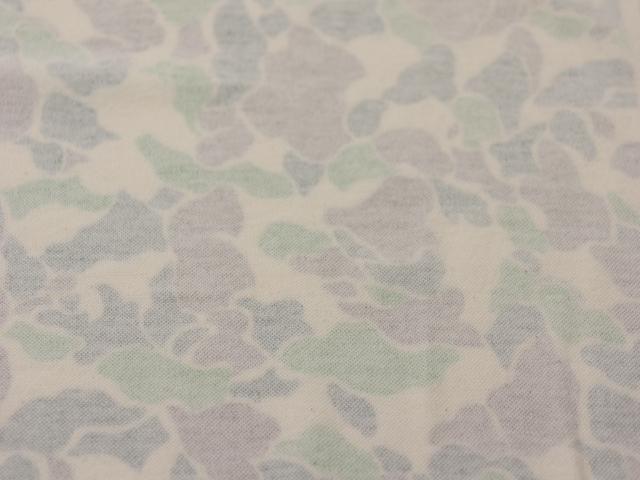 40/20ミニ裏毛ニット キナリ ネオ・カモ柄 アースグリーン