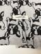 【100cm】オリジナル30/20TOP杢裏毛ニットフレンチブルちゃん柄 グレー杢×ブラック
