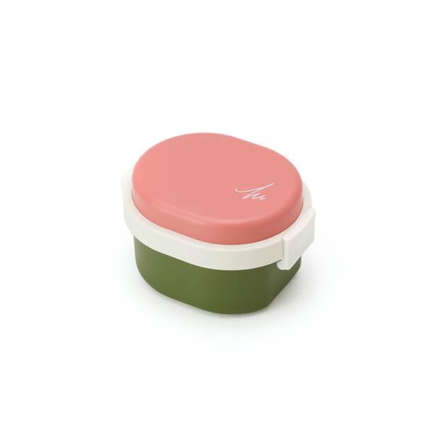 GEL-COOL ランチボックス | Dome Sサイズ | マカロンピンク × オリーブグリーン | #901 MOCOMICHI HAYAMI
