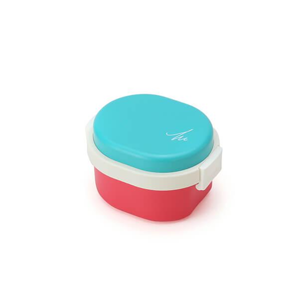 GEL-COOL ランチボックス | Dome Sサイズ | ゴルゴンゾーラブルー × チェリーピンク | #903 MOCOMICHI HAYAMI