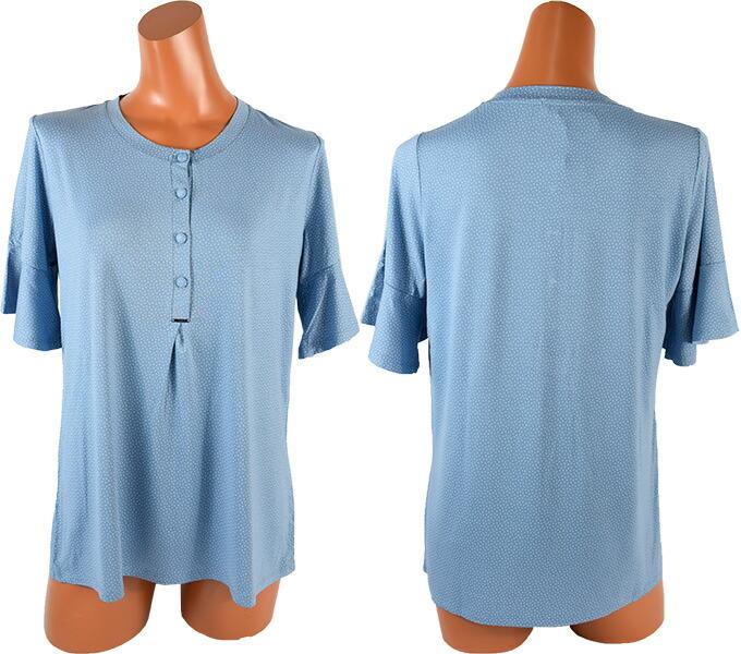 【2021春夏】イタリアインポートパジャマ LORMAR POINTELLE 0378 ドット柄半袖ロングパンツパジャマ 2色