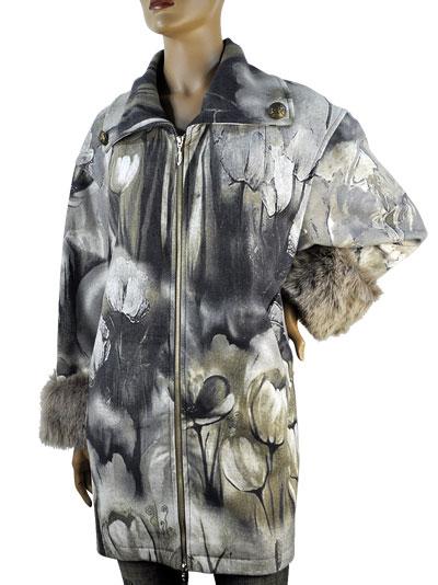 SALE 秋冬 イタリア インポート コート ELEONORA AMADEI フラワー柄 コート