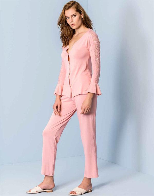 【2020春夏】イタリアインポートパジャマ LORMAR 650138 ロングパンツパジャマ 2色