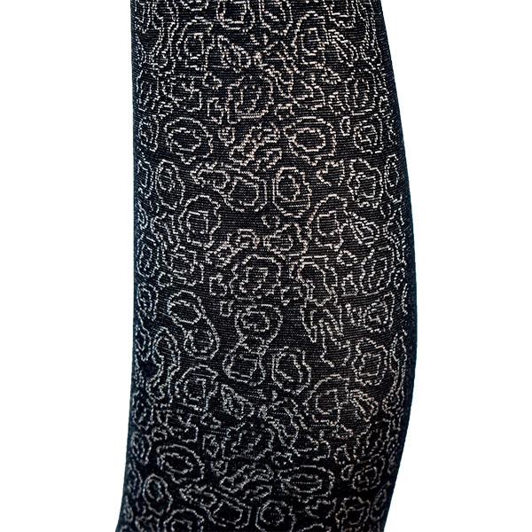 【2019/20秋冬】イタリアインポート柄タイツ DONNA BC 1953 切替柄タイツ 黒メランジュ