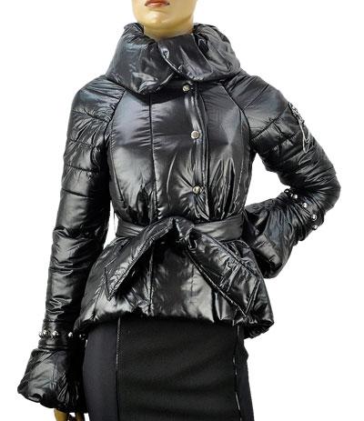 SALE 秋冬 イタリア インポート GIARDINO PRIVATO デザインダウンジャケット 黒