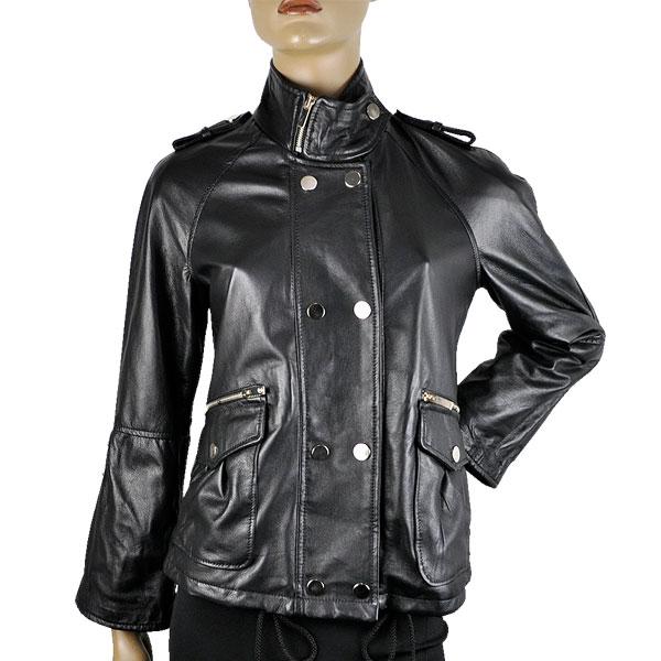 SALE 春夏 イタリア インポート ブランド IMPERIAL デザインレザージャケット 黒