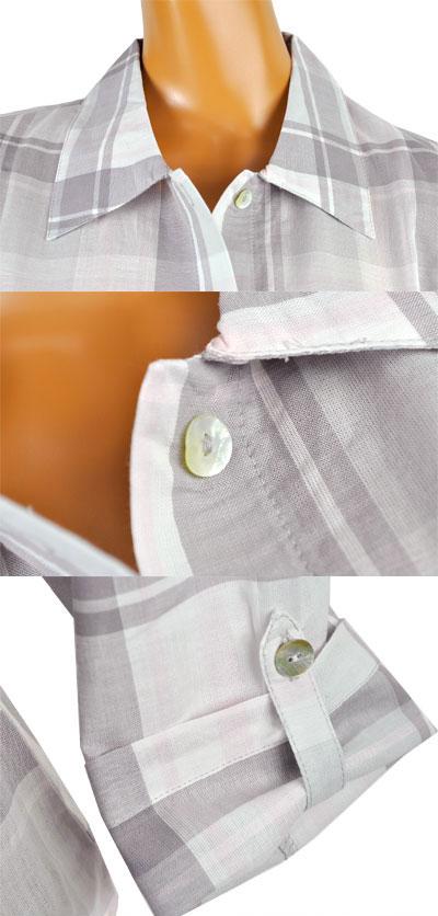 インポート ナイトウェア INFIORE 63950 チェック柄ナイトドレス