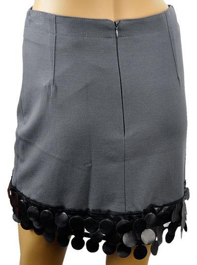 SALE 秋冬  インポート スカートELEONORA AMADEI デザインスカート グレー
