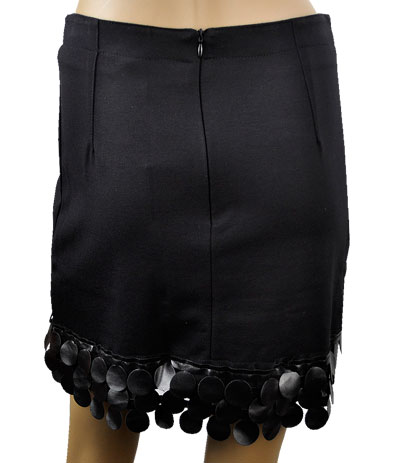 SALE 秋冬  インポート スカートELEONORA AMADEI デザインスカート 黒