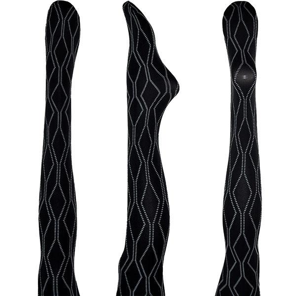 イタリア インポート 高級ブランド 柄タイツ OROBLU TRIBAL 幾何学柄タイツ 2色