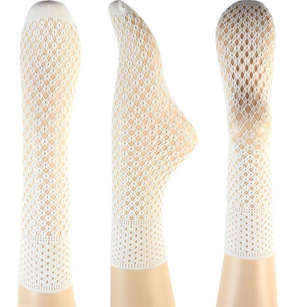 イタリア インポート 高級ブランド 柄ソックス OROBLU FISHNET-MIX 2足組 花柄・フィッシュネット柄網ソックス 3色