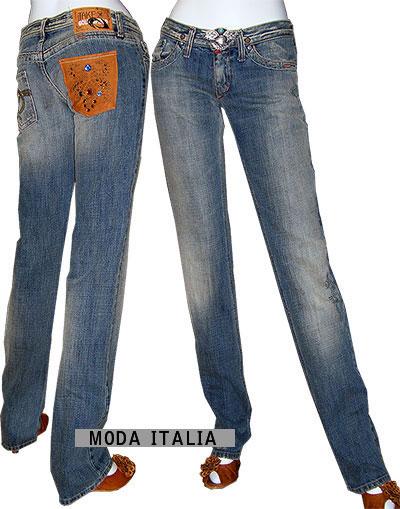 SALE イタリア・インポートデニム Take Two STEMP ローライズ3Dクラッシュジーンズ