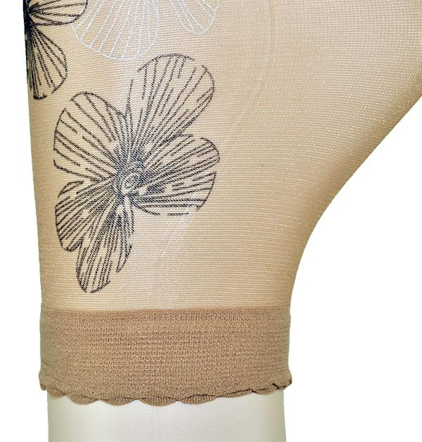 イタリア インポート ソックス OMSA SIDE 花柄ソックス ベージュ