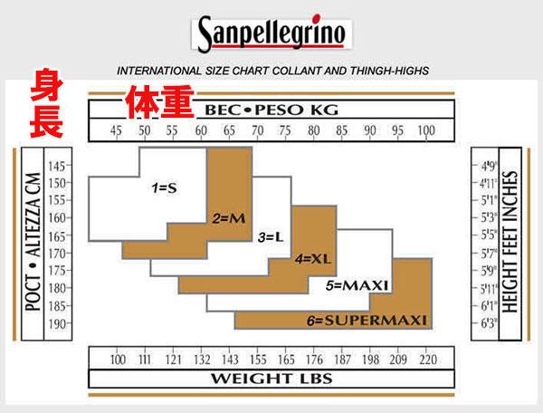 イタリア インポート 弾性ストッキング SANPELLEGRINO REPOMED 70デニール弾性ストッキング
