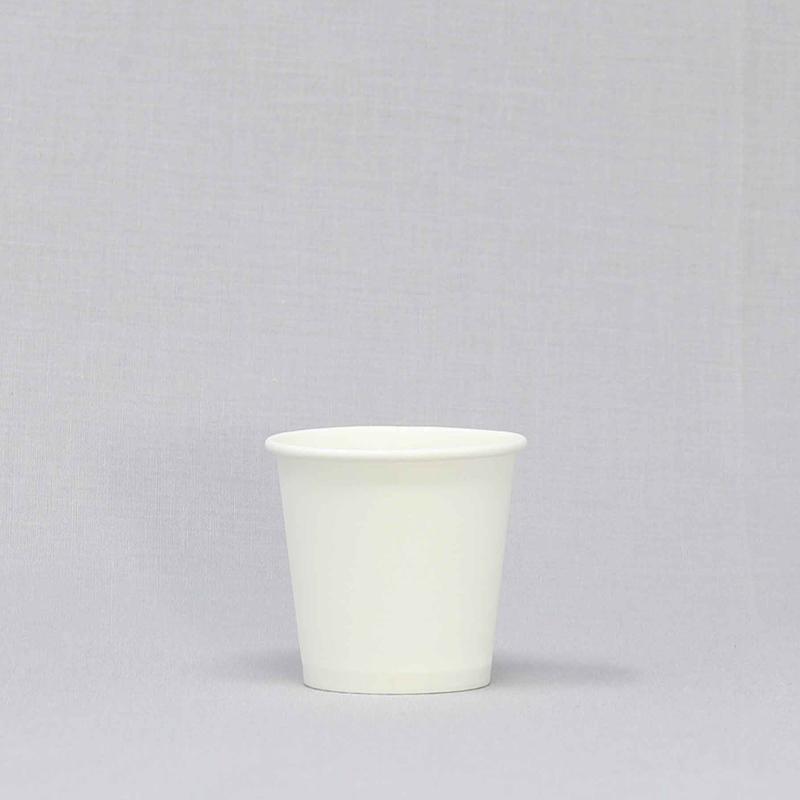 使い捨て紙コップ 2オンス 白無地 50個