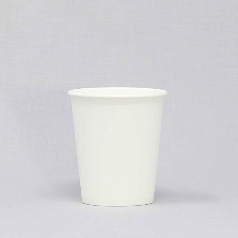 使い捨て紙コップ 5オンス 白無地 100個