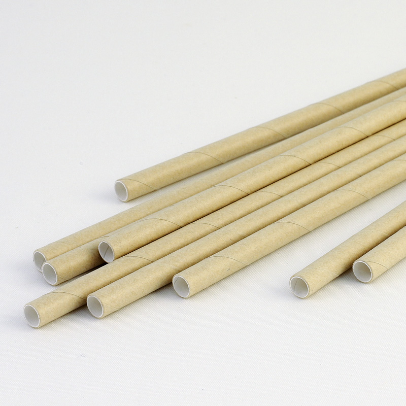 紙ストロー 裸 クラフト 250本