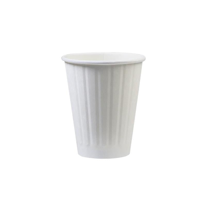 2層エンボスカップ 白 8オンス 1,000個