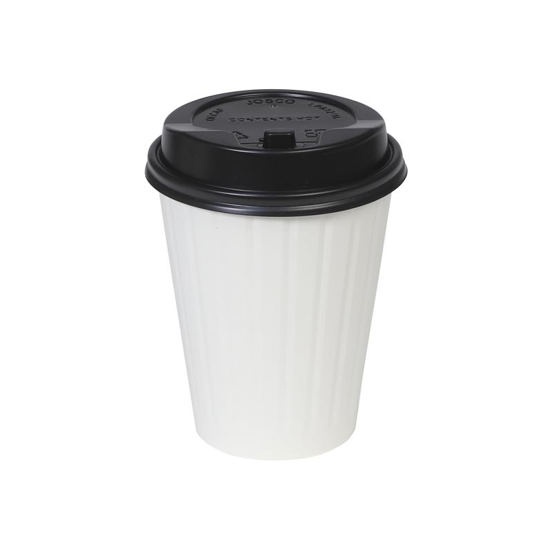厚紙・2層エンボスカップ用リッド 黒 口径90mm 1,000個