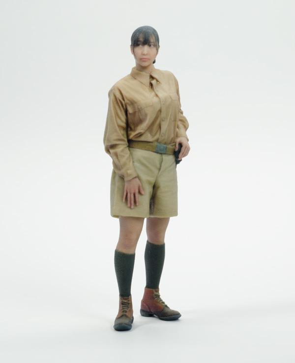 1/12 中村 桜「アフリカ軍団」塗装済完成品(アクリル製ベース付属)