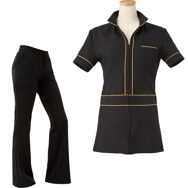 【セットアップ】P-3 衿付ノワールパンツスーツ
