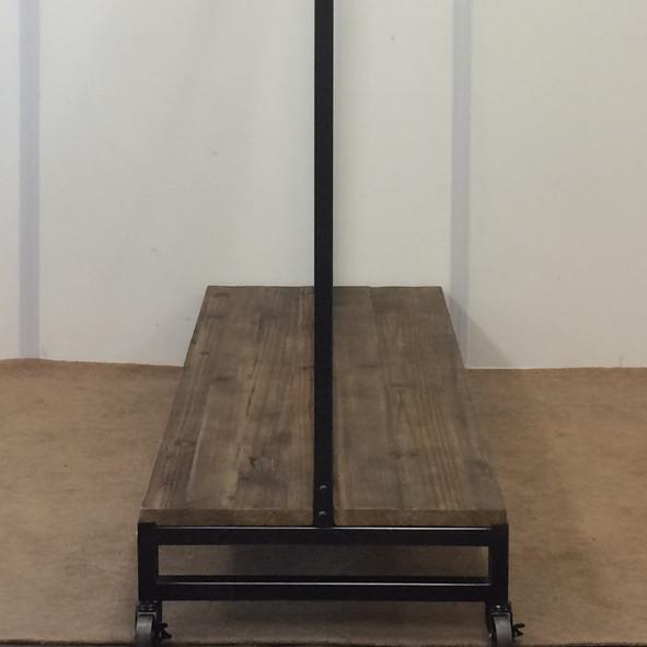 ハンガーラック フレーム×古材 アンティーク風【幅121cm】インダストリアル