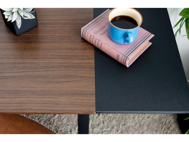 木&ブラックのデスク | インダストリアル | Day