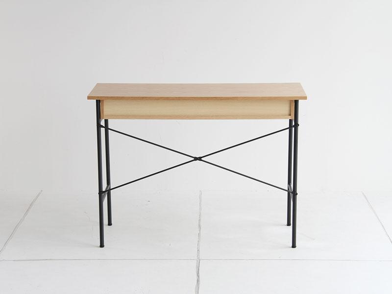 コンパクトデスク スチールフレーム オーク材 am【幅100cm】インダストリアル家具