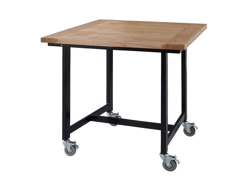 キャスターの付いたダイニングテーブル | Gou | 80cm