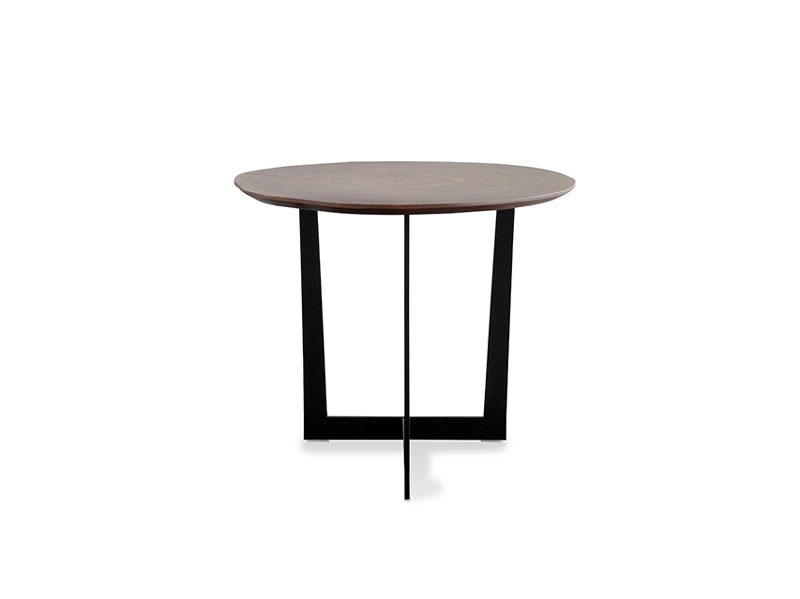 丸太天板のサイドテーブル | ウォルナット | BL