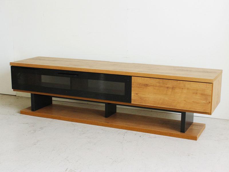 木&ブラックスチールのTVボード | 幅160cm | NETS
