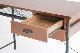 収納コンパクトデスク スチールフレーム ウォールナット材 am【幅100cm】インダストリアル家具