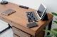 ウォルナットの書斎デスク|幅110cm|スチール脚のデスク
