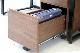 ウォルナットの書斎デスク用ワゴン|幅34cm|スチールインテリア