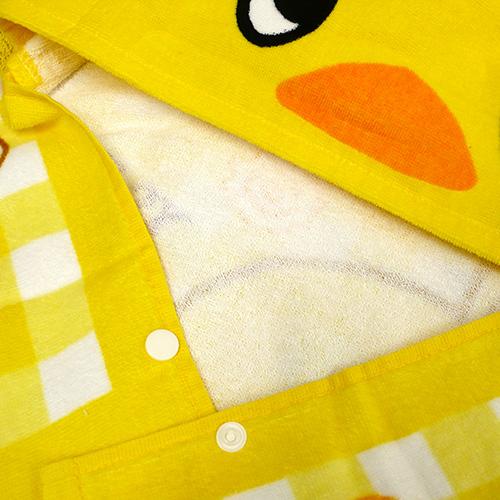 ひよこちゃん おでかけチキラーズ フード付きコンパクトバスタオル