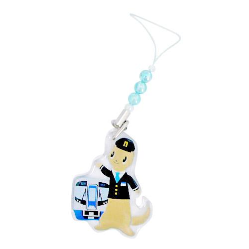 nimoca アクリルプレート オーロラストラップ(電車/新タイプ)青