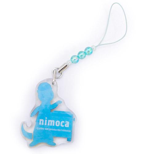nimoca アクリルプレート オーロラストラップ(バス)青