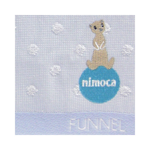 nimoca×FUNNEL ハンドタオル ドット(ブルー)FN-008