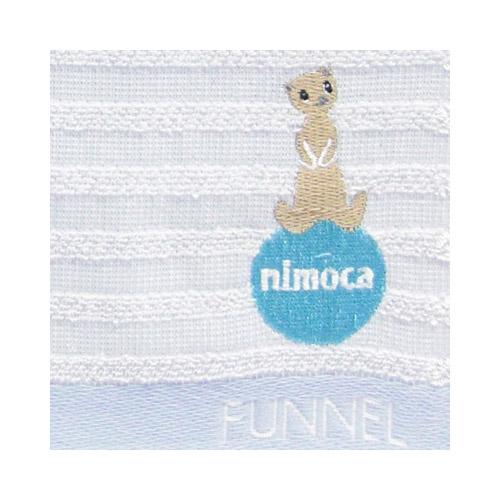 nimoca×FUNNEL ハンドタオル ボーダー(ブルー)FN-009
