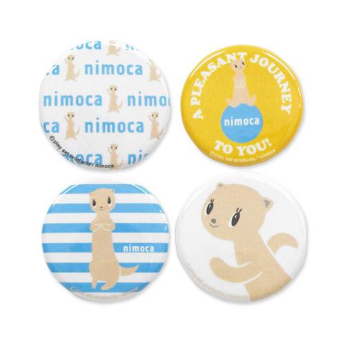 nimoca×FUNNEL 缶バッチB(4個セット)YE FN-020
