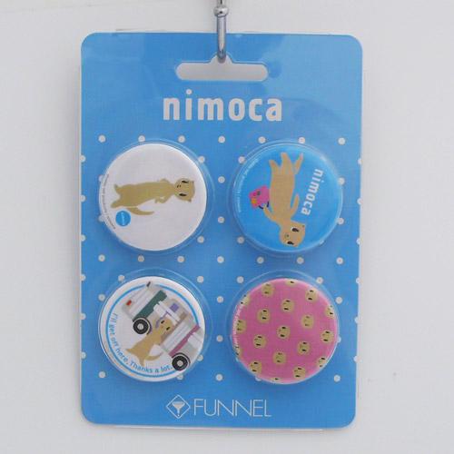 nimoca×FUNNEL 缶バッチC(4個セット)PK FN-021