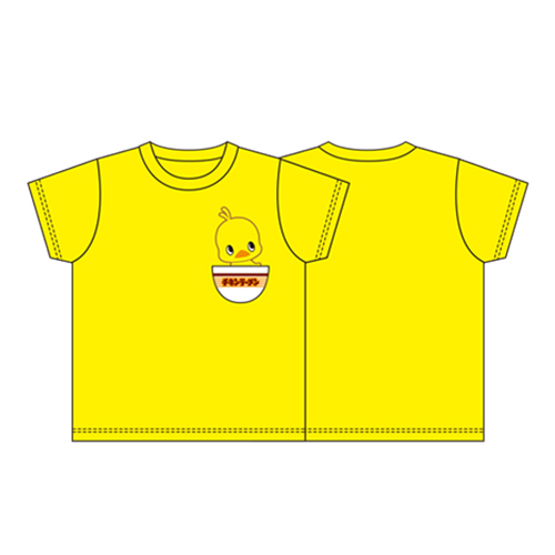 ひよこちゃん どんぶりポケット Tシャツ 黄