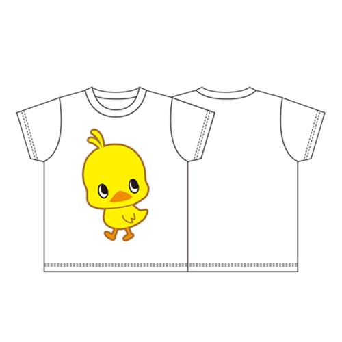 ひよこちゃん メインデザイン Tシャツ 白