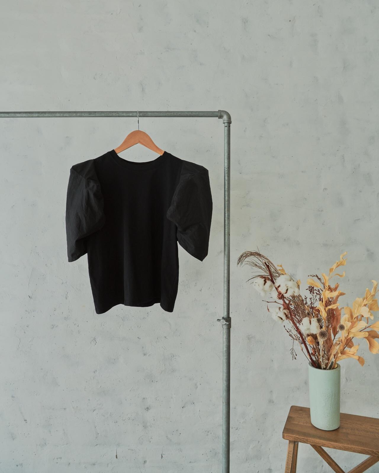 異素材バルーンスリーブTシャツ