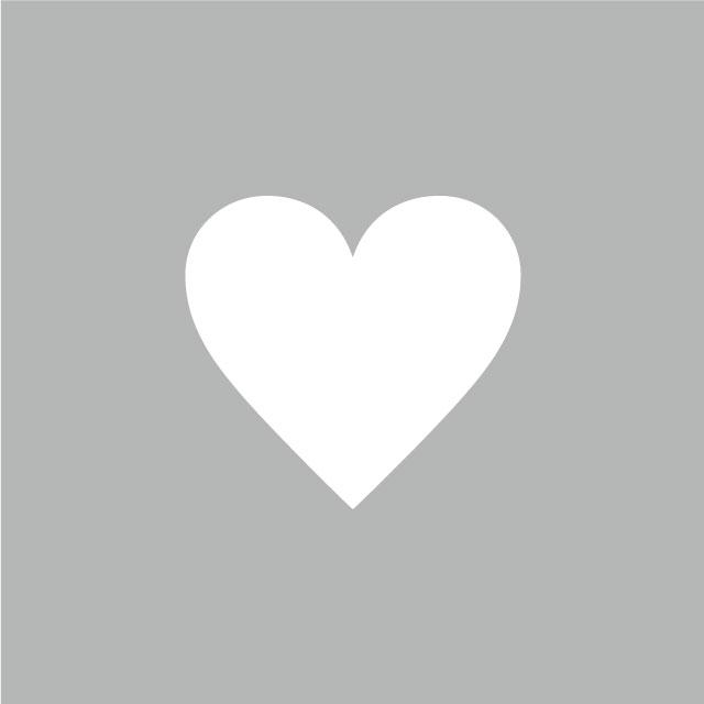 ハート(アイロン転写用、色:レッド、ホワイト)